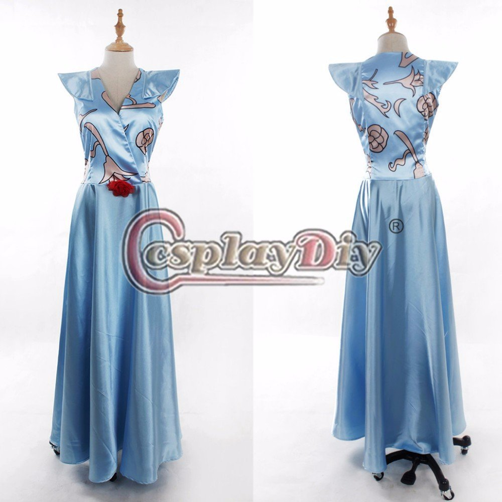 Game of Thrones Margaery Tyrell Blue Dress Adult Women Halloween Cosplay Costume Custom Made