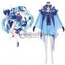 Custom Made Girls Dress Snow Miku Sky Blue Costume Dress Cosplay for Party