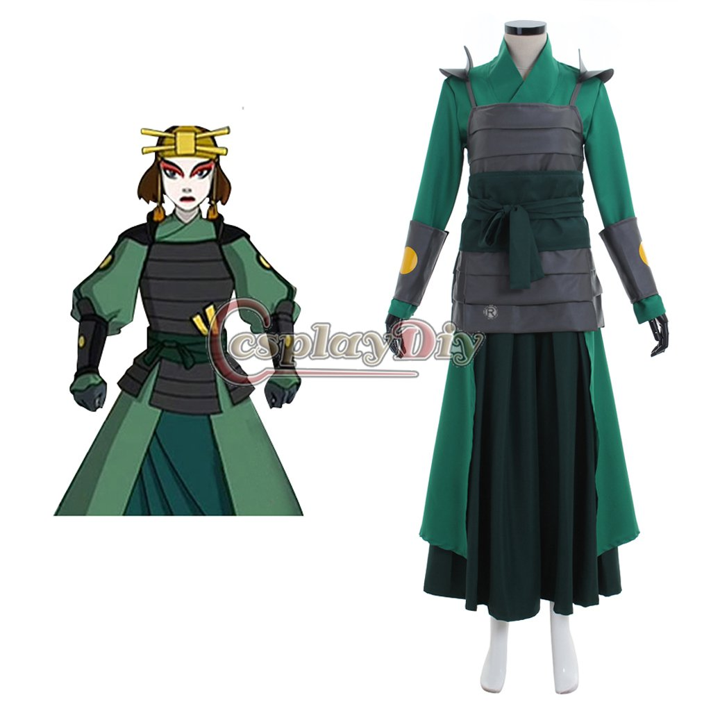 CosplayDiy Avatar The Last Airbender Kyoshi Warriorsm Cosplay Costume Women's Costume