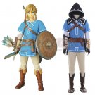 Custom Made Costume The Legend of Zelda Breath of the Wild Link Cosplay Costume For Carnival Party