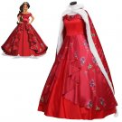 Princess Elena of Avalor Elena Red Dress With Cape Women's Cosplay Dress For Halloween