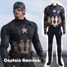 Custom Made Captain America: Civil War Captain America Cosplay Costume For Halloween Party