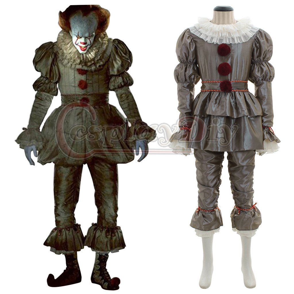 2017 Stephen King's Movie IT  Pennywise Halloween Cosplay Costume Men Custom Made Costume