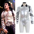Custom Made Michael Jackson Performance Costume Cosplay Unisex Silver Costume
