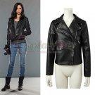 Custom Made Jessica Jones Black PU Jacket Women's Jacket Cosplay Costume