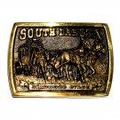 South Dakota Deadwood Stage Heritage Mint Solid Brass Vintage Belt Buckle