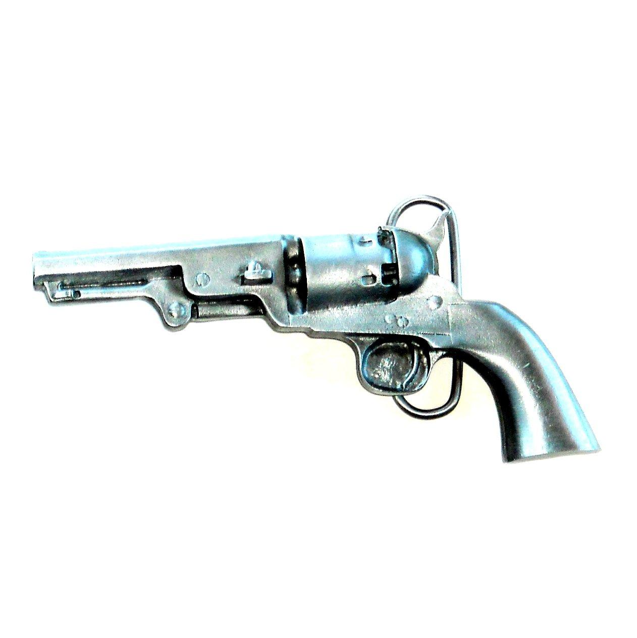 Old West Six Shooter Pistol Vintage Bergamot 3D American NOS Belt Buckle