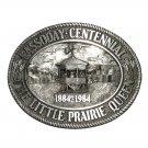 Kansas Cassoday Little Prairie Queen Vintage Pewter Belt Buckle