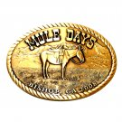 California Bishop Mule Days 2008 Solid Bronze Belt Buckle