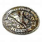 Cowboy Rodeo Bucking Horse NFR Hesston 1984 Large Belt Buckle
