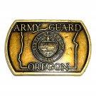 Oregon Army Guard State Seal Vintage Belt Buckle