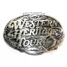 Wichita Kansas Western Heritage Tour Award Design Pewter Belt Buckle
