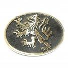 Vintage German Lion Crest Solid Bronze Polished Finish Belt Buckle