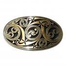 Scroll Celtic Hand Casted Satin Finish Solid Bronze Belt Buckle