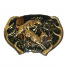 Deer Buck Doe Trophy Vintage Bergamot 1977 Belt Buckle