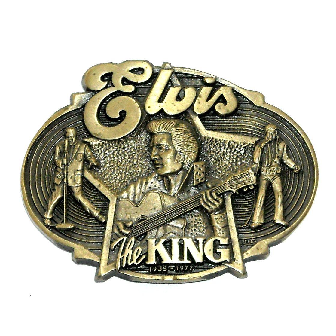 Elvis King Rock Roll Award Design Brass Belt Buckle
