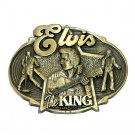 Elvis King Rock Roll Award Design Brass Belt Buckle