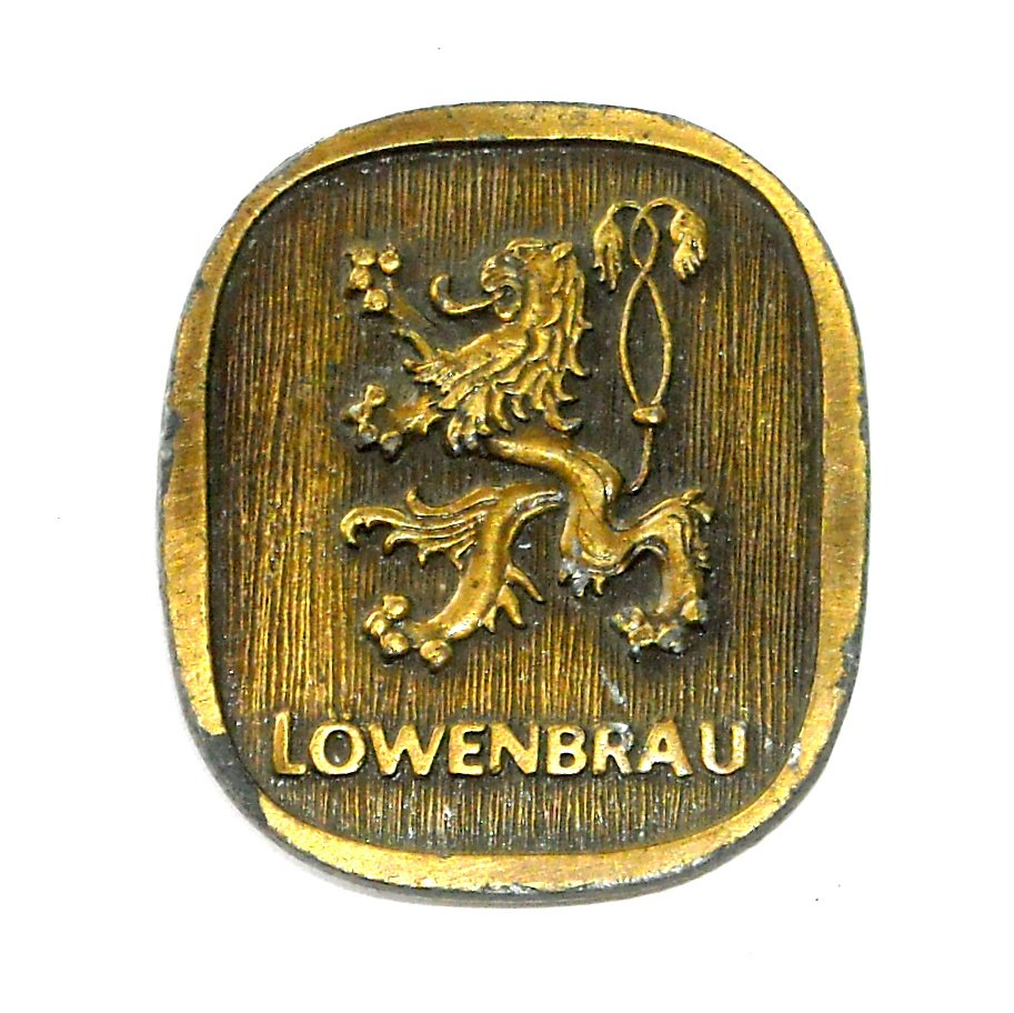 Lowenbrau Vintage Bergamot Brass Belt Buckle