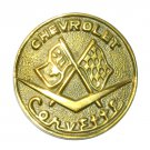 Chevrolet Corvette Vintage Taiwan Brass Belt Buckle