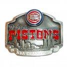 Detroit Pistons NBA Champions Vintage Official Pewter Belt Buckle