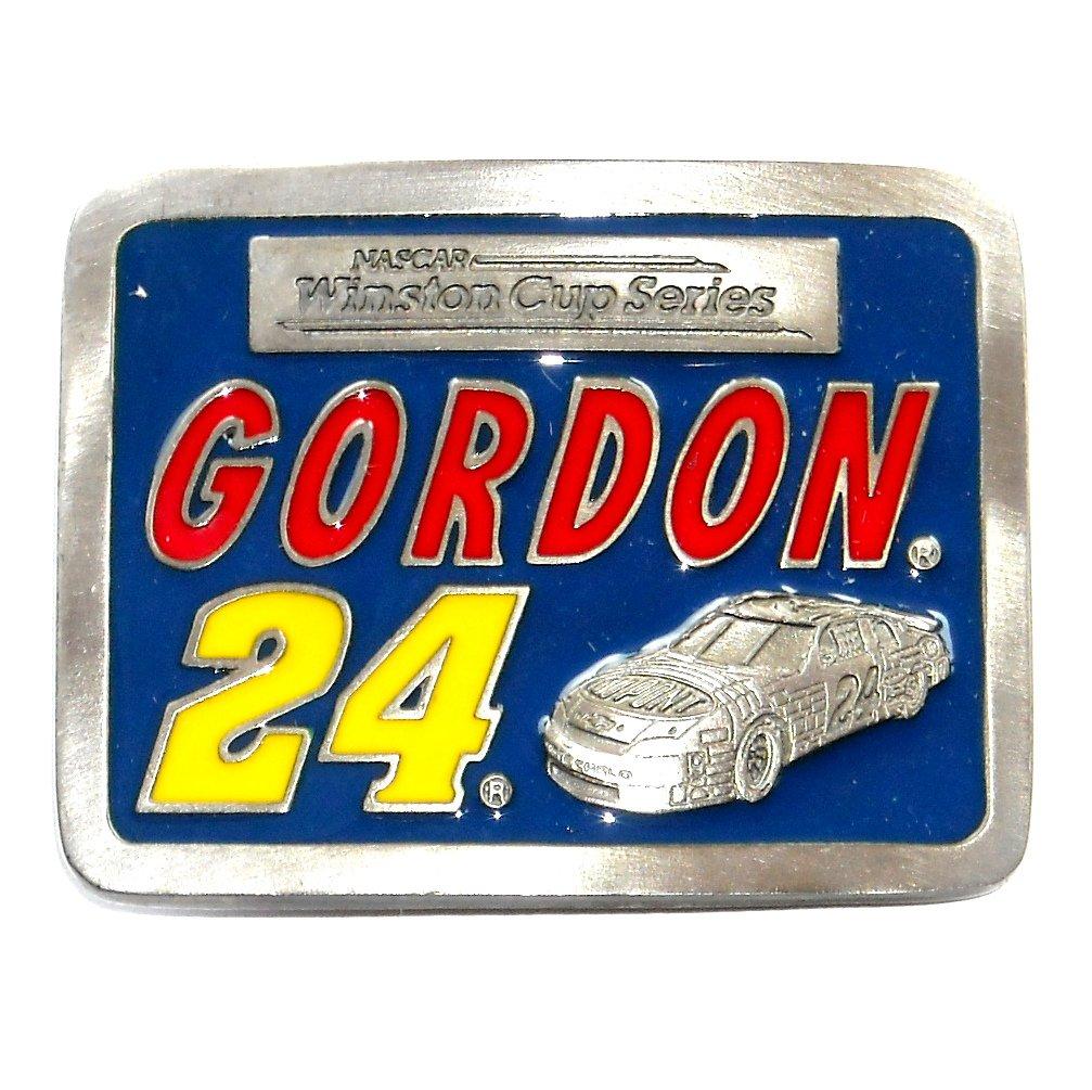 Nascar Winston Cup Jeff Gordon 24 Pewter Belt Buckle