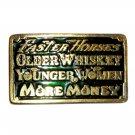 Faster Horses Vintage 70s Great American Brass Belt Buckle
