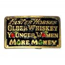 More Money Vintage Color Great American Brass Belt Buckle