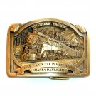 Southern Pacific Rail Train Lima 4449 Solid Bronze NOS Belt Buckle