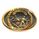 Minnesota State Star North Vintage Heritage Mint Solid Brass Belt Buckle