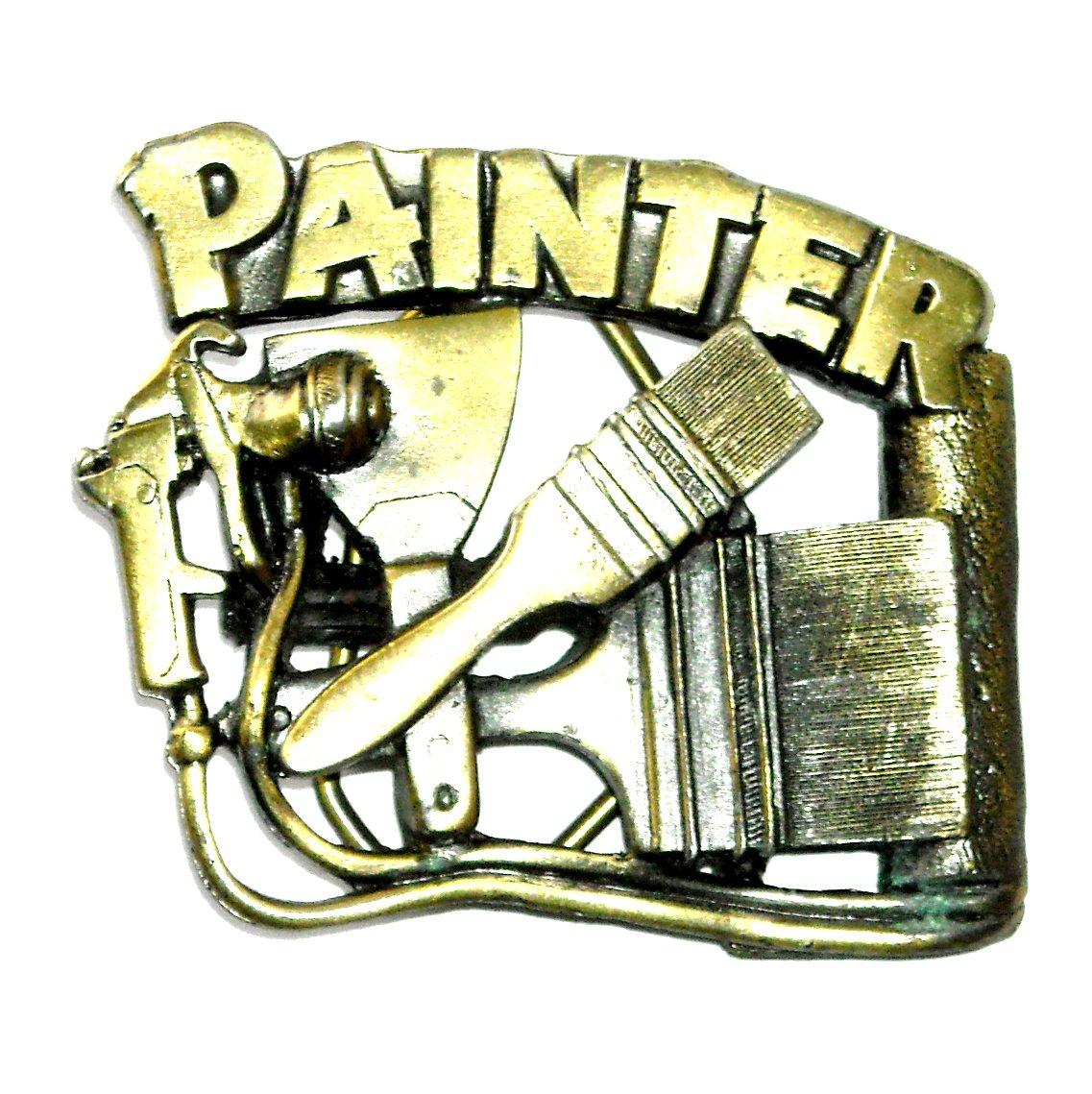 Painter 3D Brass Color 1992 Great American Belt Buckle