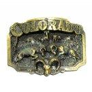 Colorado Rams 3D Brass Color Great American Belt Buckle