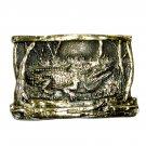 Gator Alligator Brass Color Great American Belt Buckle