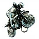 Motocross Dirt Biker 3D Bergamot USA Pewter American NOS Belt Buckle