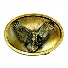 American Flying Eagle Bird USA Bergamot Brass Color Western Belt Buckle