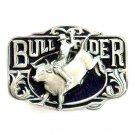 Bull Rider Western Color 3D C J Bergamot NOS Belt Buckle
