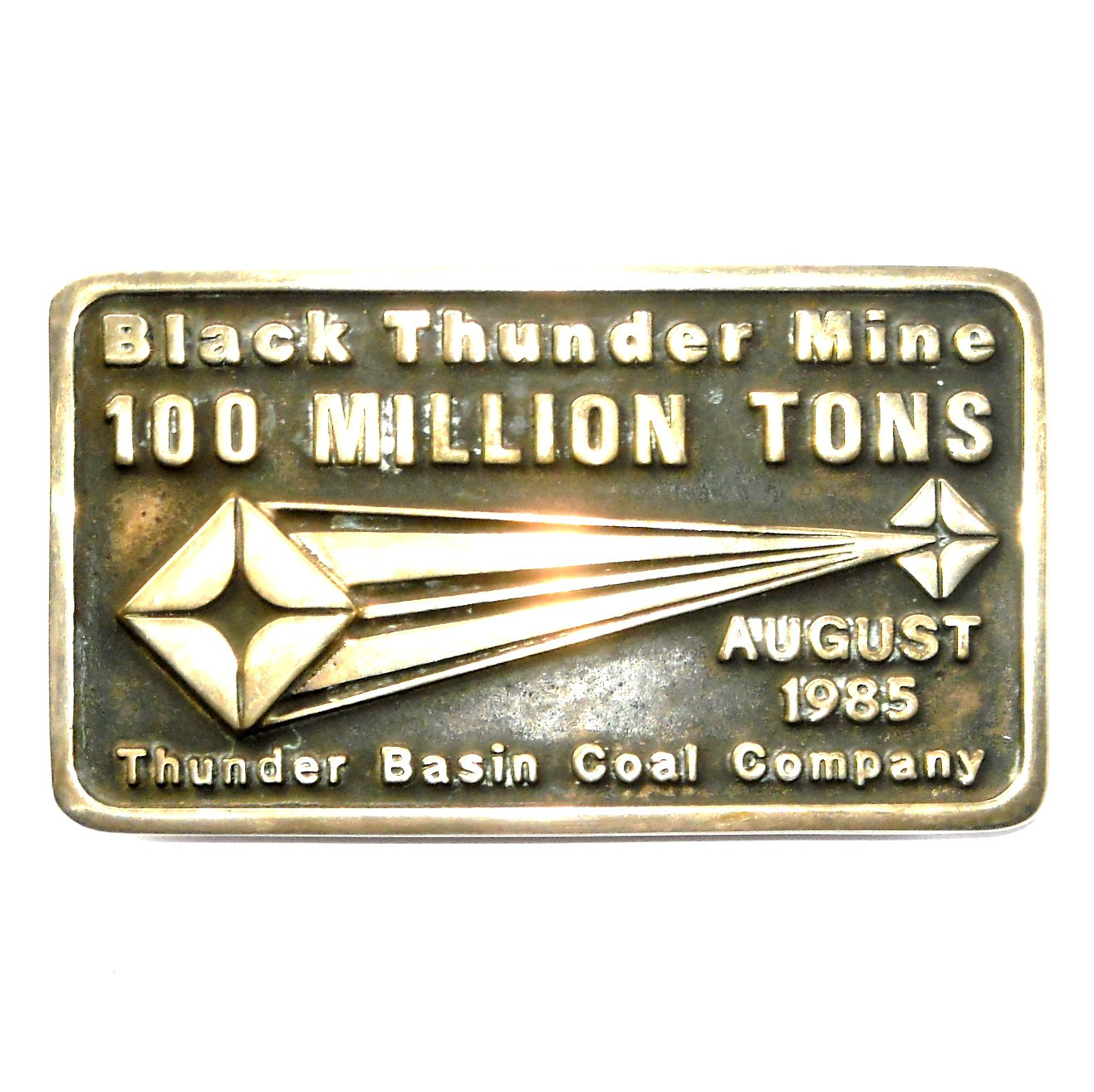 Thunder Base Mine Anacortes Brass Limited Edition 639 Belt Buckle