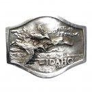 Idaho Department Fish and Game 3D Bergamot Pewter Belt Buckle