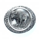 Bison American Buffalo 3D Bergamot Pewter Belt Buckle