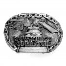 Tow Truck Operator C J Made In USA Pewter Belt Buckle