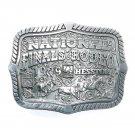 Hesston 1999 National Finals Rodeo Award Design Medals Belt Buckle