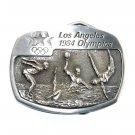 Swimming Water Polo Los Angeles 1984 Olympics Sanchez Pewter Belt Buckle