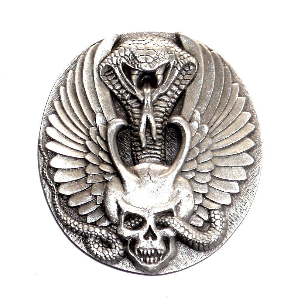 Bad Boys Wings Snake Skull Indiana Metal Craft Pewter Classic Belt Buckle