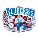 BlueGrass Country Music USA Great American Color Belt Buckle