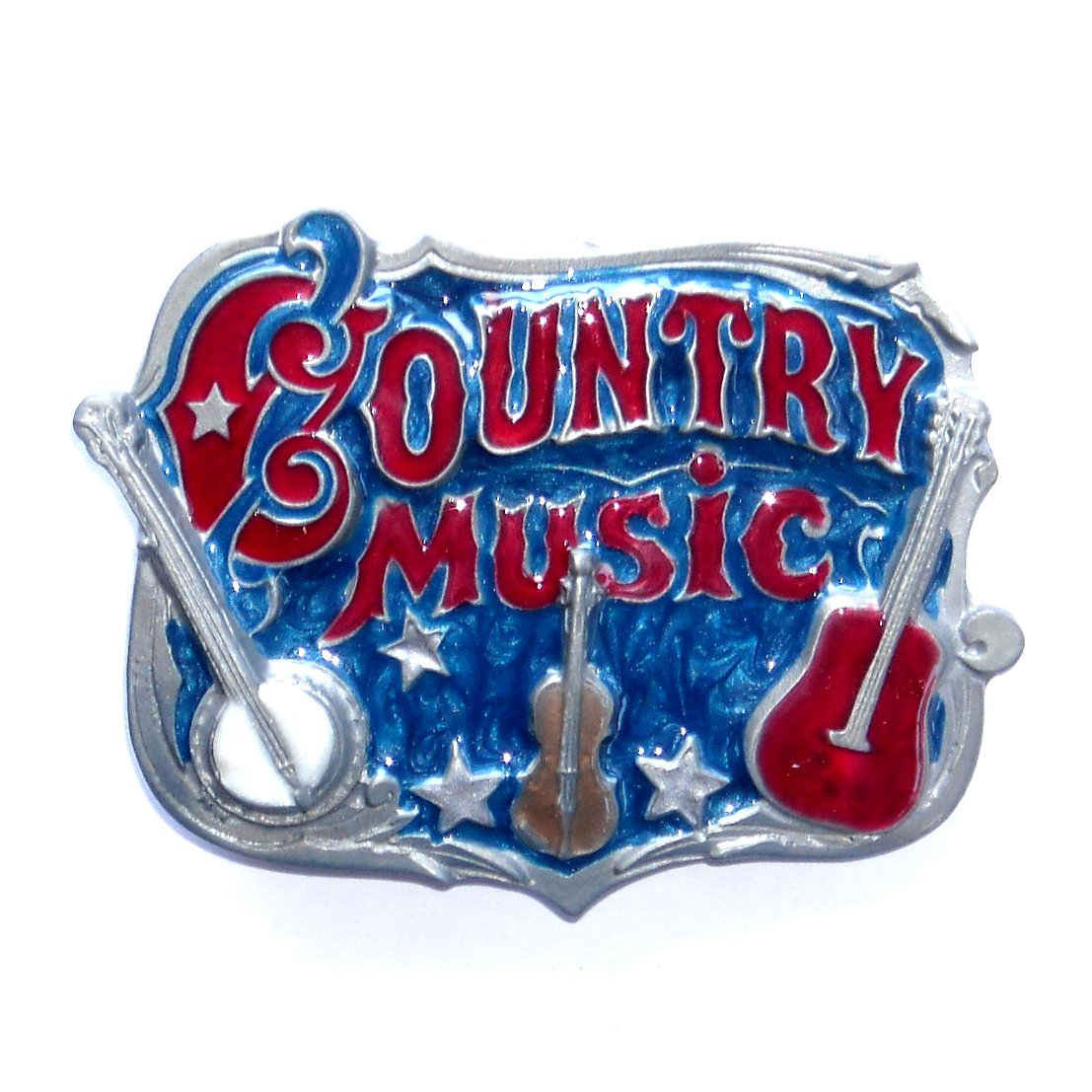 Western Country Music USA Great American Color Belt Buckle