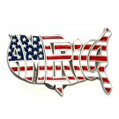 Proud To Be An American Beautiful Flag GAP Color Belt Buckle