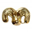 Ram Head Trucks Baron Heavy Solid Brass Belt Buckle