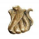 Cobra Snake 3D Baron Solid Brass NOS Belt Buckle