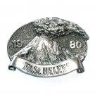 Washington Mt Saint Helens Vintage Great American Pewter Silver Color Belt Buckle