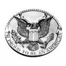 Proud To Be An American USA Seal Bergamot Belt Buckle