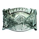 Original America The Beautiful Bergamot Pewter Belt Buckle